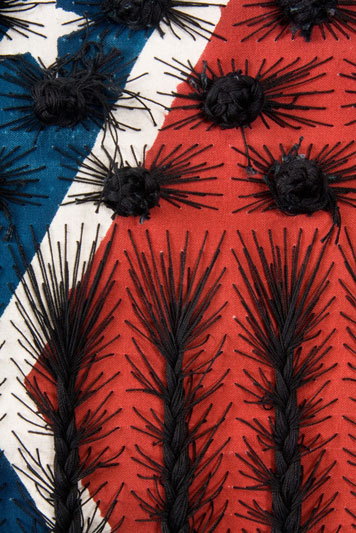 Sonya Clark - Black Hair Flag (detail)